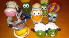 Veggie Tales Nativity Scene Cow Sheep Wise Men King Christian Toys Christmas Lot