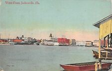 c.1910 Water Front Boats in Harbor Jacksonville FL post card