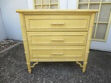 Fretwork Faux Bamboo 3-drawer Chinese Chippendale LG Nightstand Bachelor Chest