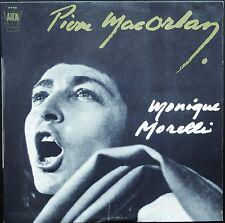MONIQUE MORELLI PIERRE MAC ORLAN 33T LP ARION 30P058 Dédicace imprimée BRASSENS