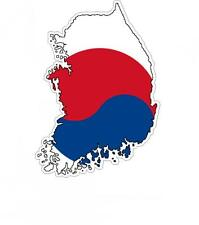 Sticker car moto map flag vinyl outside wall decal macbbook south korea