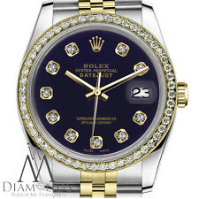 Women`s Rolex 26mm Datejust 2 Tone Purple Color Dial with Diamond Accent