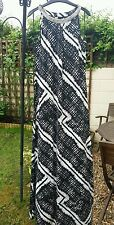 Wallis  black maxi pattern dress size 14