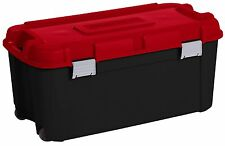 BIG 80 Litre Mobile Plastic Storage Trunk Box Container Locker Wheels-Kids Toys!