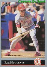 025   REX HUDLER    ST. LOUIS CARDINALS  BASEBALL CARD LEAF 1992