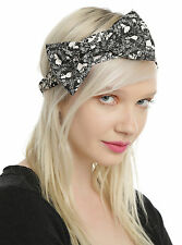 Disney ALICE IN WONDERLAND SILHOUETTE BOW STRETCH HEADBAND Officially Licensed