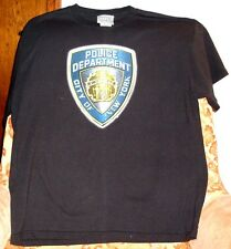 """POLICE DEPARTMENT, CITY OF NEW YORK"" T-SHIRT BLUE LARGE NEW FREE U.S. SHIPPING"