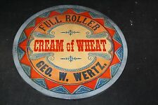 OLD GEORGE W WERTZ PA CONGRESSMAN CREAM OF WHEAT WOOD STORE DISPLAY SIGN ROLLER