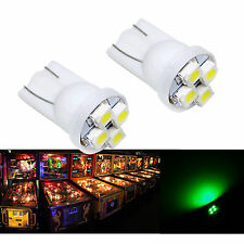 10x #555 T10 4 SMD LED Pinball Machine Light Bulb Green AC/ DC 6.3V