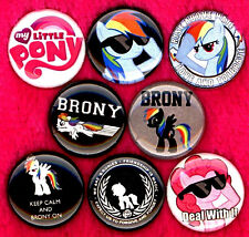 Brony x 8 NEW pins button badge my little pony mlp friendship magic