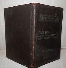 VECCHIA TESSERA DELLE FERROVIE DELLO STATO PER ABBONAMENTI NAPOLI 1943 GUERRA