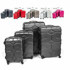 HARD SHELL 4 WHEELS SPINNER ABS TROLLEY LUGGAGE CABIN SIZE SUITCASE
