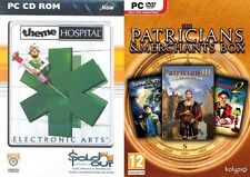 theme hospital & Patrician III + The Great Art Race + dark star 1  new&sealed