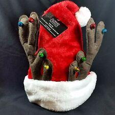 Reindeer Antler Santa Claus Hat Christmas Stocking Bells Red White New USA Ship