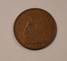ONE PENNY ENGLAND von 1962 Elizabeth II Great Britain England Münze (A6)