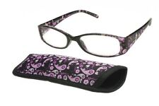 foster grant reading glasses Daydreamer Purple  +1.50 With Free Matching Case