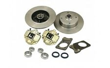 VW Super Beetle 4 Lug Front Disc Brake Kit w/ Wheel Bearings 4x130