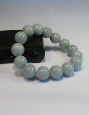 Natural Grade A  jade 10 mm beaded stretchy bracele(15 beads)