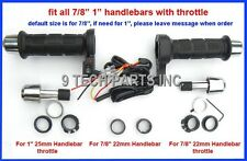 """UNIVERSAL MOTORCYCLE ATV HEATED GRIPS Fit 7/8"""" 1"""" HANDLEBAR THROTTLE 3 STAGE"""