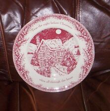 noble excellence  dinner plates twas the night before christmas set of 5