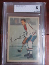 1953-54 PARKHURST #27 JEAN BELIVEAU ROOKIE RC BVG BECKETT GRADED 6 - MONTREAL
