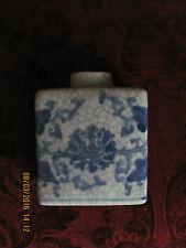 ANTIQUE CHINESE CRACKLE GLAZE PORCELAIN JAR/TEA CADDY