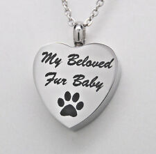 Paw Cremation Urn Necklace My Beloved Fur Baby Pet Cremation Jewelry Memorial