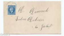 MTC.177 - Romania post, Cover, 1875, Vaslui - Galati