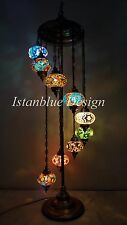 GLASS TABLE VINTAGE LAMPS ART CHANDELIER STUNNING ANTIQUE LIGHT MOSAIC TURKISH