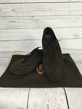 Mens TOD'S Suede Casual Lace Up Shoes - UK8.5 - Brown - With Dust Bag