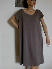 NWT. EILEEN FISHER ORGANIC COTTON JERSEY STRETCH K/L DRESS BALLET NECK   SZ-XL