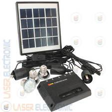 Kit Fotovoltaico completo di Centralina e 3 Lampade a Led con Cavi Collegamento