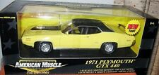 ERTL 1/18 1971 Plymouth GTX 440+6 Lemon Twist  Air Grabber Hood New In Box