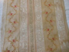 Antique 19thc French Lisere Silk Brocade Fabric ~ Aged Patina