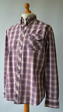 Men's Red & Blue Checked Ben Sherman Shirt Size L, Large.