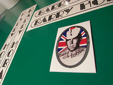 Barry Hoban decal set. 5 in set inc shiny head tube deacl. New artwork. The best