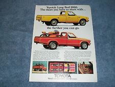 1974 Toyota Pickup Long Bed 2000 Vintage Ad with Custom Yamahauler