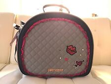 Betsey Johnson Gray/Black Weekender Tote Travel Cross Body Train Case Bag $158