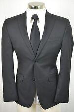 (36S) Alfani RED Men's Black MOD 2 Button SLIM Flat Front 2 Piece Suit (30x30)