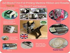 Ribbon printing machine and Rosette hot foil printing machine package and more.