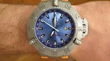 Invicta Men's Subaqua Noma III 1591 Watch Blue Dial Orange Strap Limited Edition