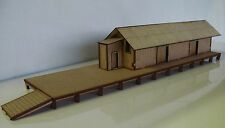 HO scale building Goods shed all ready built (unpainted)
