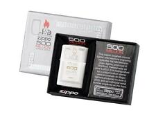"ZIPPO LIMITED ""500 MILLION"" BRUSHED CHROME ENGRAVED LIGHTER ** NEW in BOX **"