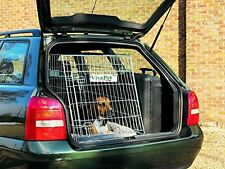 VivaPet In Car Sloping Transport Travel Mobile Dog Puppy Cat Metal Cage Crate