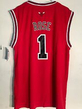 Adidas NBA Jersey Chicago Bulls Derrick Rose Red sz L