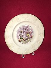 Staffordshire Children's Plate Driving Out His Four In Hand Ca 1830
