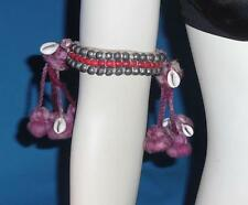 Rare Gypsy Banjara Tribal Fusion ATS Belly Dance Armlet Anklet Purple Red $50