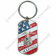 New US MARINES DOG TAGS American Military WW2 Style Metal Army Navy Key Ring