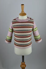 RRP£45 Girls Irish Wool Cashmere Fairisle Jumper Sweater.Child Age 2-4,24 months