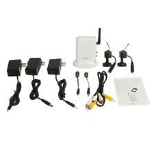 2.4Ghz Receiver + Wireless 2CH Mini CCTV Security Camera Cam AV Video System